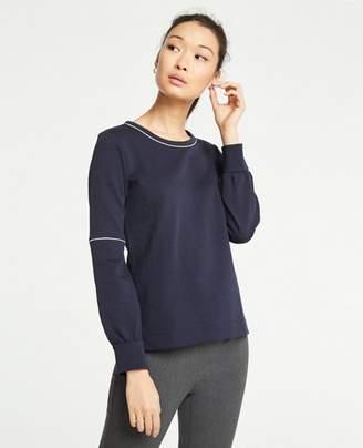 Ann Taylor Piped Lantern Sleeve Sweatshirt