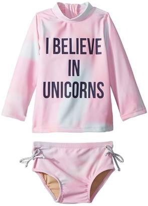 shade critters I Believe in Unicorns Rashguard Set Girl's Swimwear Sets