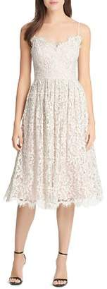 Eliza J Gathered Lace Dress