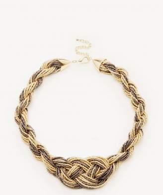 Sole Society Beaded Weave Bib Necklace