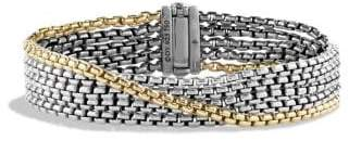 David Yurman Chain Five -Row Bracelet With 18K Gold, 16Mm