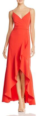 Laundry by Shelli Segal Ruffled High/Low Gown - 100% Exclusive