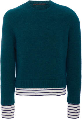 Haider Ackermann Sailor Stripe Crew Neck Sweater
