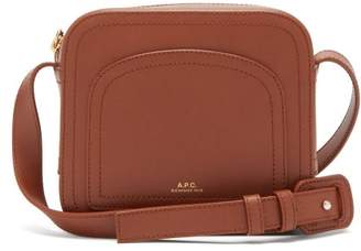 A.P.C. Louisette Leather Cross Body Bag - Womens - Tan