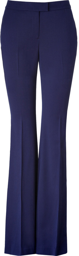 Rachel Zoe Royal Blue Wool Flared Hutton Tuxedo Pants