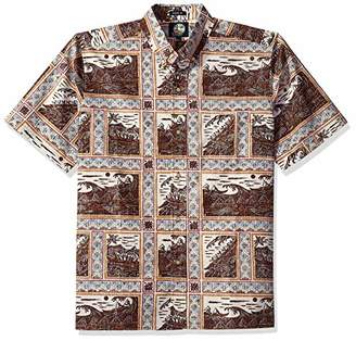 Reyn Spooner Men's Molokai to Oahu Spooner Kloth Classic Fit Hawaiian Shirt