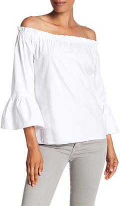 Karen Kane Off-the-Shoulder Solid Blouse $79 thestylecure.com