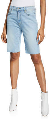 7 For All Mankind High-Waist Straight Bermuda Shorts