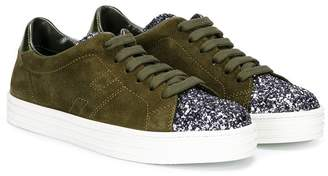 Hogan glittered low-top sneakers
