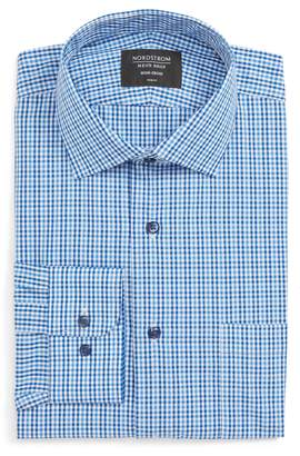 Nordstrom Non-Iron Trim Fit Microcheck Dress Shirt
