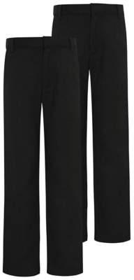George Boys Charcoal Slim Leg School Trouser 2 Pack