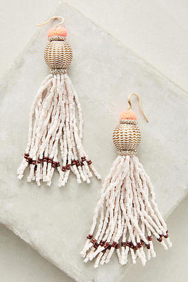 Anthropologie Vacation Tassel Drop Earrings $48 thestylecure.com