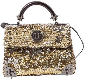 Philipp Plein Gold Glitter Handbag