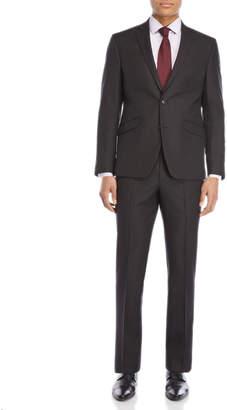 Kenneth Cole Reaction Two-Piece Black Pindot Ready Flex Suit