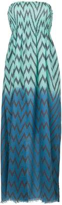 Tara Matthews Capo zig-zag maxi beach dress