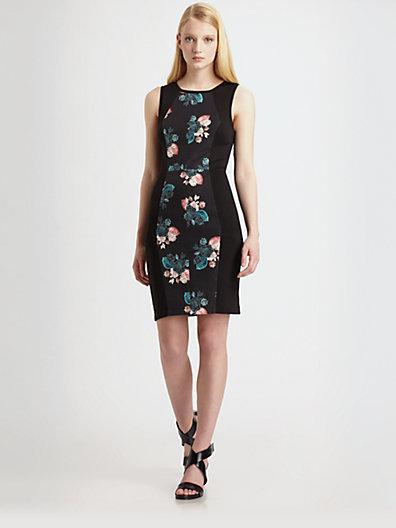 Sachin + Babi Dulce Floral-Panel Dress