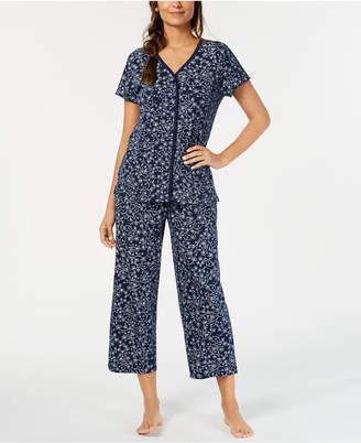 Charter Club Cotton Printed Top & Pajama Pants Set