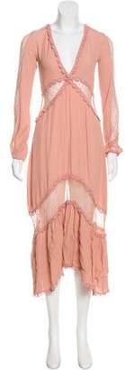 For Love & Lemons Long Sleeve Maxi Dress