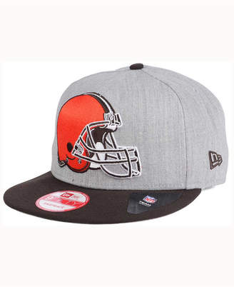New Era Cleveland Browns Heather Grand 9FIFTY Snapback Cap
