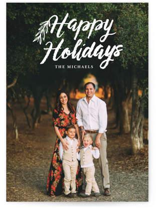 script happy holidays Custom Selflaunch Stationery
