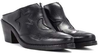 McQ Solstice leather mules