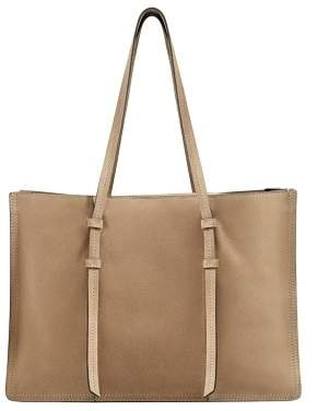 MANGO Suede shopper bag