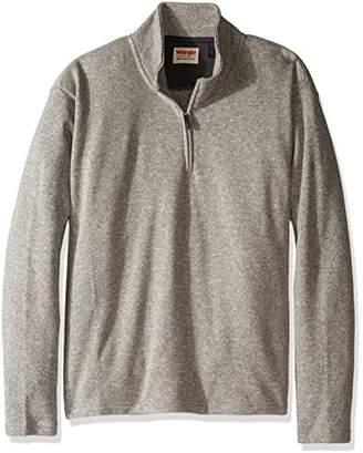Wrangler Authentics Men's Big-Tall Sweater Fleece Quarter-Zip,3XL