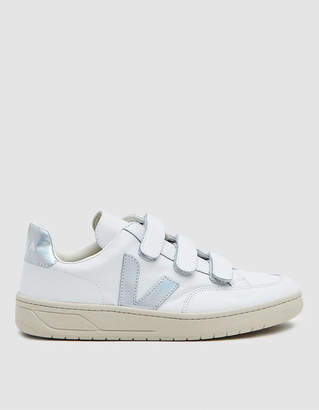 Veja V-Lock Leather Sneaker in Extra White Unicorn