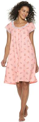 Croft & Barrow Women's Scoopneck Printed Nightgown