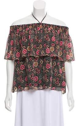 Rebecca Minkoff Floral Off-The-Shoulder Top