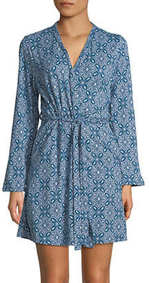 EMILY AND JANE Printed Long Sleeve Jersey Robe