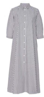 MDS Stripes Pleated Shirtdress
