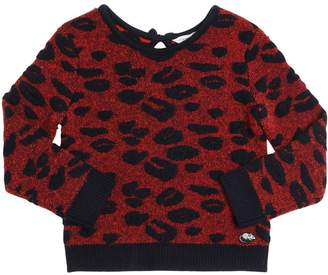 Little Marc Jacobs Leopard Jacquard Sweater