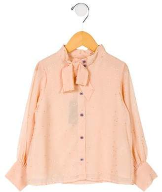 Velveteen Girls' Penelope Bow Blouse w/ Tags