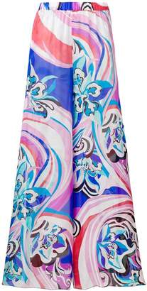 Emilio Pucci side slits palazzo trousers