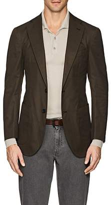 P. Johnson Men's Cotton Two-Button Sportcoat