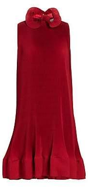 Tibi Women's Plissé Pleated Structured Sleeveless Dress