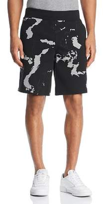 BLACKBARRETT by NEIL BARRETT Globe Print Sweat Shorts