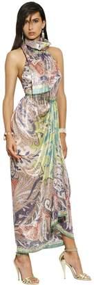 Etro Lurex Woven Cashmere & Silk Long Dress