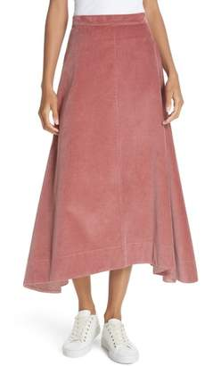 Elizabeth and James Danielle Corduroy Midi Skirt
