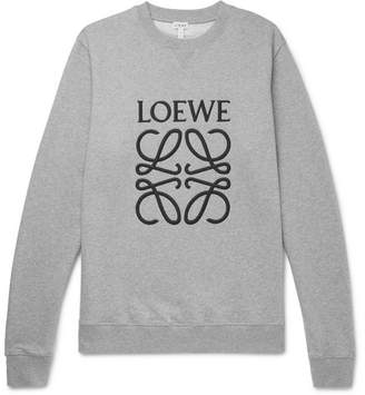 Loewe Logo-Embroidered Loopback Cotton-Jersey Sweatshirt