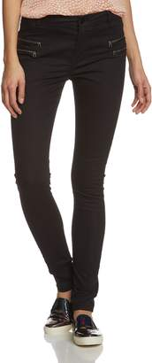 Noisy May Women's Fame Mid Rise Super Slim Zip Jeans