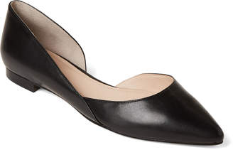 a620ecede5e Marc Fisher Black Sunny d Orsay Leather Flats