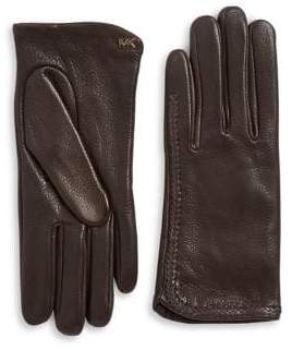 MICHAEL Michael Kors Whipstitch Leather Gloves