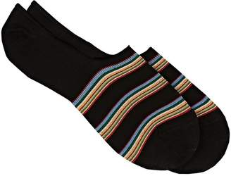 Paul Smith Men's Striped Stretch Cotton-Blend No-Show Socks
