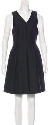 Halston Pleated A-Line Dress w/ Tags