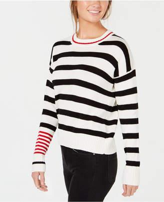 Freshman Juniors' Contrast Striped Sweater