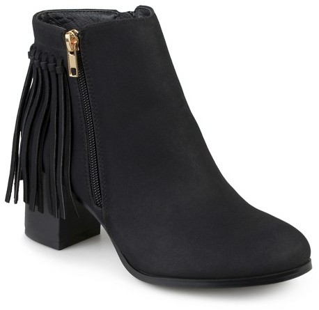 Women's Journee Collection Viv Faux Leather Fringe Boots