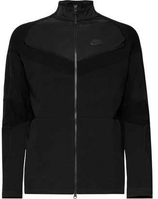 Nike Sportswear Slim-Fit Shell-Panelled Tech Knit Jacket