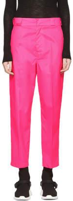 Prada Pink Techno Logo Trousers